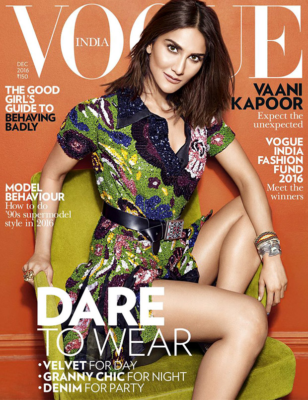 Check out Vaani Kapoor in party mode for her first Vogue cover