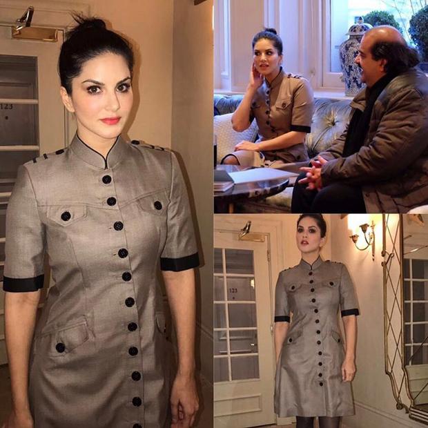 Sunny Leone meets Prince of Bahrain at London Fashion Week-2