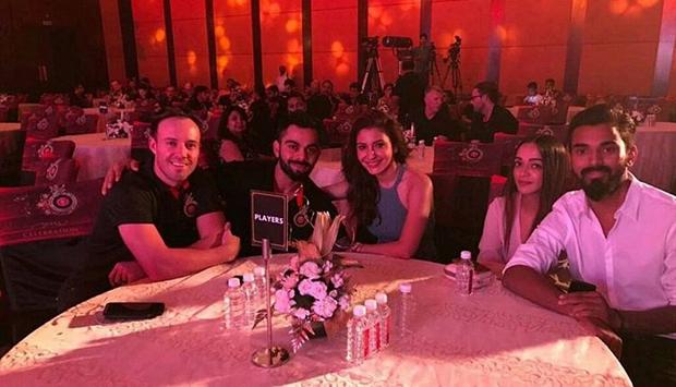 Anushka Sharma supports boyfriend Virat Kohli at RCB's 10 year celebration