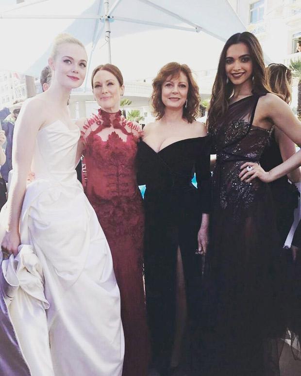 Cannes 2017 Wow! Deepika Padukone meets Hollywood stars Julianne Moore, Susan Sarandon and Elle Fanning-1