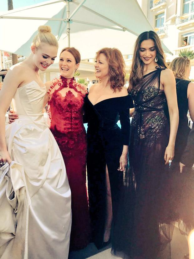 Cannes 2017 Wow! Deepika Padukone meets Hollywood stars Julianne Moore, Susan Sarandon and Elle Fanning-2