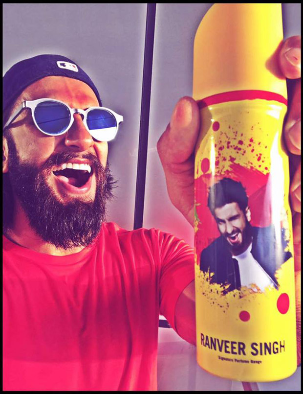 Check out Ranveer Singh can't stop flaunting his face on a deodorant can