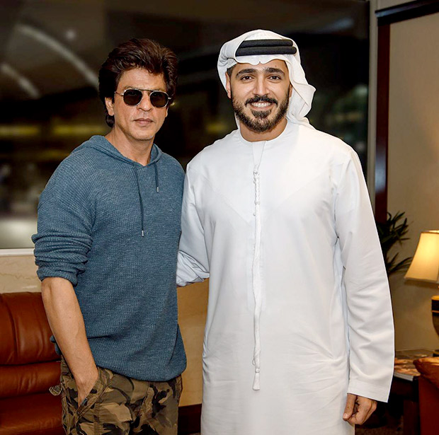Check out Shah Rukh Khan has a fun time meeting CEO of Dubai Tourism and Marketing Issam Kazim-1