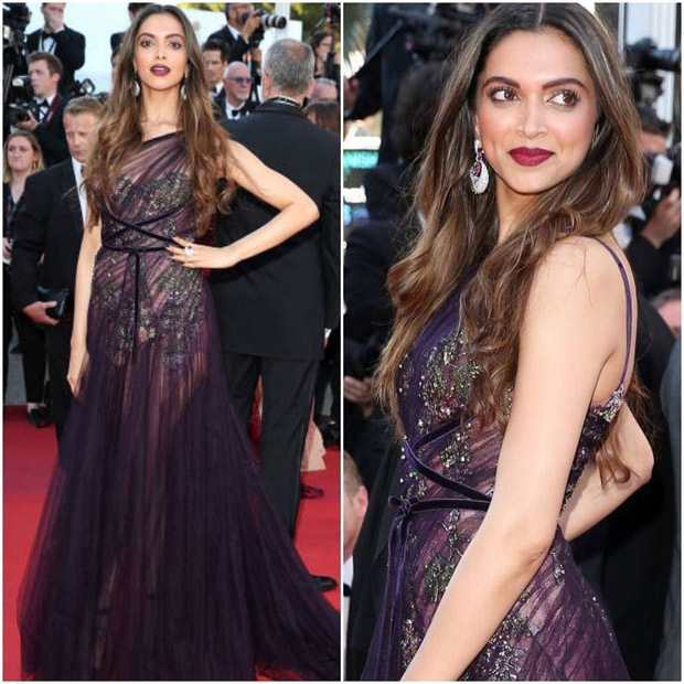 HOT Deepika Padukone looks exquisite in wine sheer gown at the red carpet of Cannes 2017-1