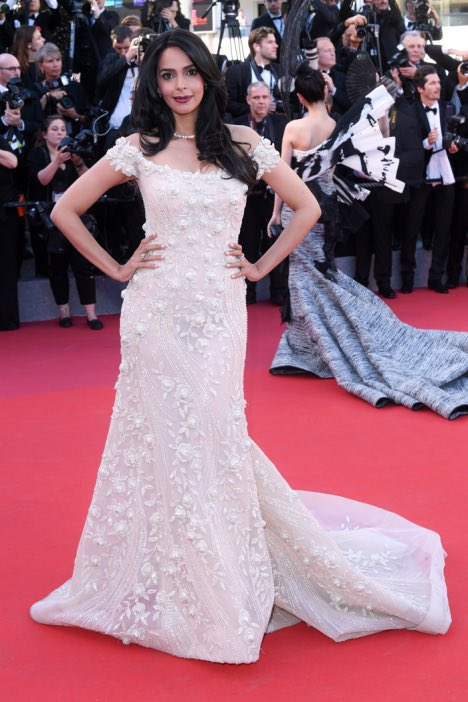 Here's how Mallika Sherawat prepped for her ethereal white look for Cannes red carpet