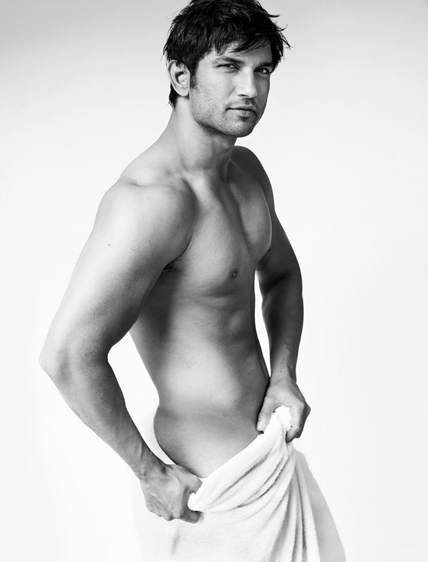 Sushant Singh Rajput goes nearly butt naked for Mario Testino's towel series leaves very little to imagination