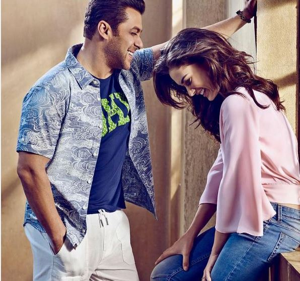 Check out Salman Khan and Amy Jackson caught in a cute moment in the new Being Human campaign1