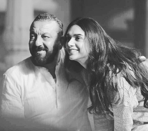 Flashback Friday Aditi Rao Hydari and Sanjay Dutt can't stop smiling on the sets of Bhoomi