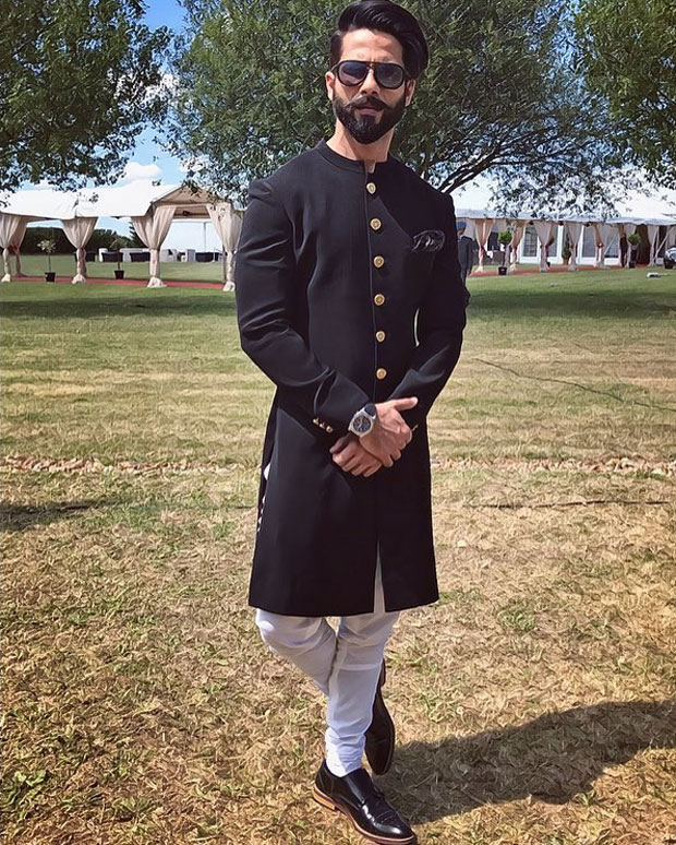 Shahid Kapoor and Mira Rajput look royal at a recent wedding in London-2