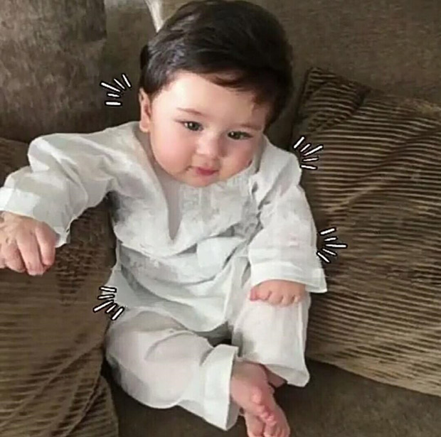 CUTE! This image of Saif Ali Khan and Kareena Kapoor Khan's little munchkin Taimur chilling like a nawab is priceless