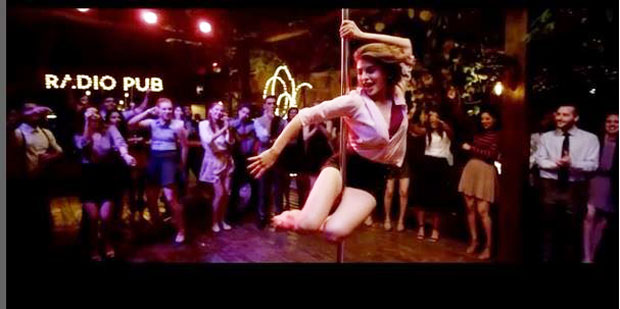 Jacqueline Fernandez does this pole dance for A Gentleman and we can't stop looking at it