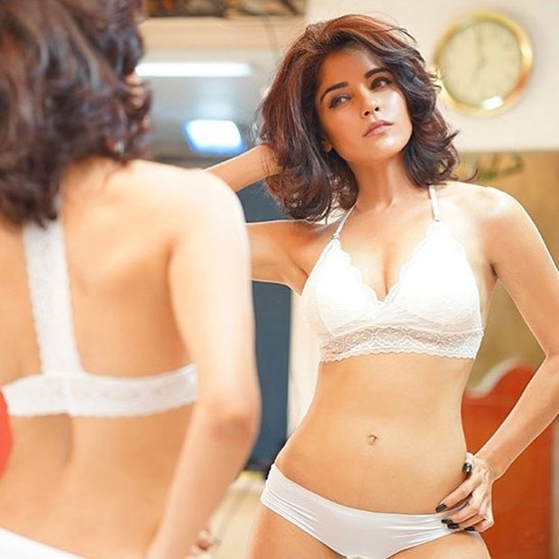 Pia Bajpai in an open buttoned shirt and white lingerie will leave you wanting more-2