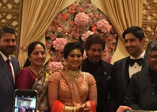 Shah Rukh Khan attends the grand wedding of Union Law Minister RS Prasad's daughter's wedding in New Delhi -1