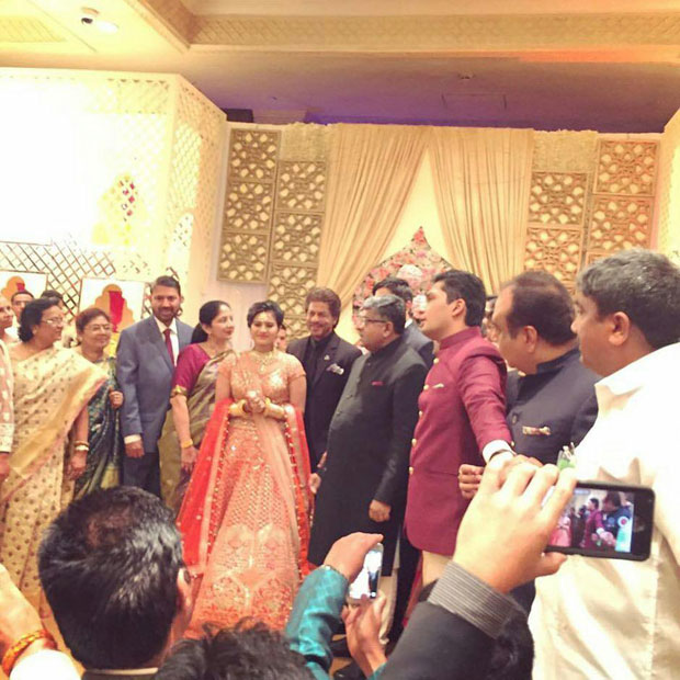 Shah Rukh Khan attends the grand wedding of Union Law Minister RS Prasad's daughter's wedding in New Delhi -2