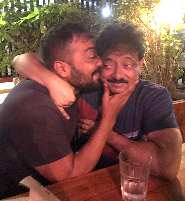 WTF! Ram Gopal Varma And Anurag Kashyap go a KISSING SPREE in a public place