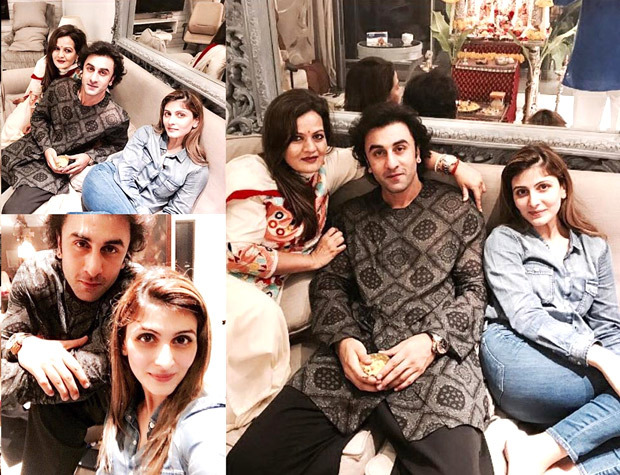 Check out Ranbir Kapoor celebrates Ganesh Chaturthi with sister Riddhima Kapoor Sahni
