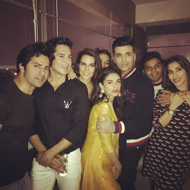 Check out Varun Dhawan, Aditi Rao Hydari, and Karan Johar at Neha Dhupia's birthday bash_03