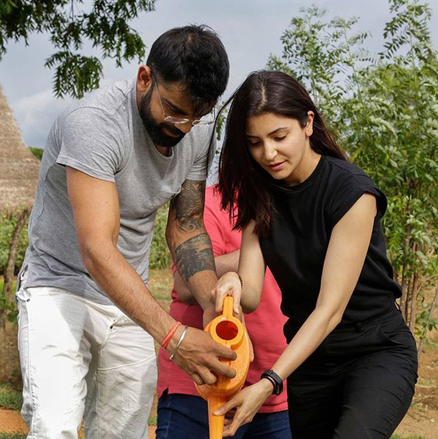 Go Green! Anushka Sharma and Virat Kohli plant a sapling in Sri Lanka