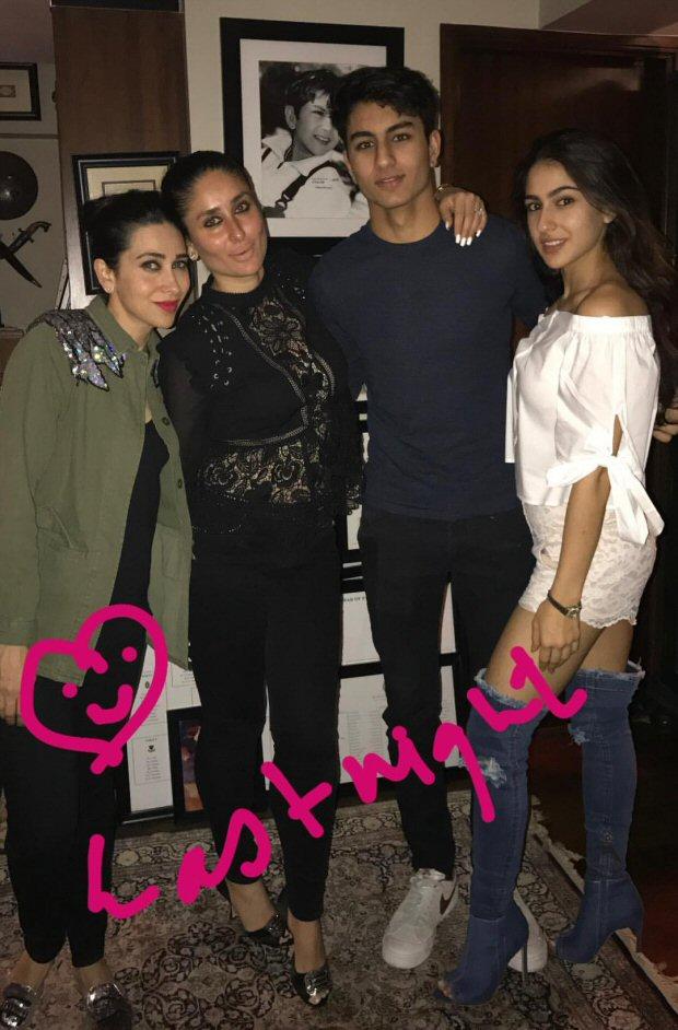 Kareena Kapoor Khan, Karisma Kapoor, Sara Ali Khan, Ibrahim and Soha Ali Khan celebrate Saif Ali Khan's birthday!2