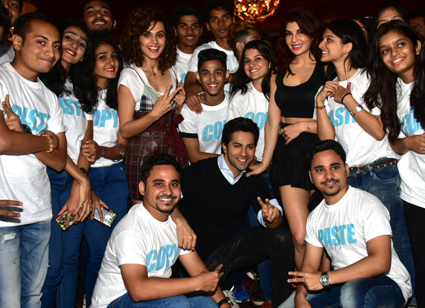 SHOCKING Pair of twins misbehaves with Jacqueline Fernandez at Judwaa 2 trailer launch; Varun Dhawan comes to the rescue