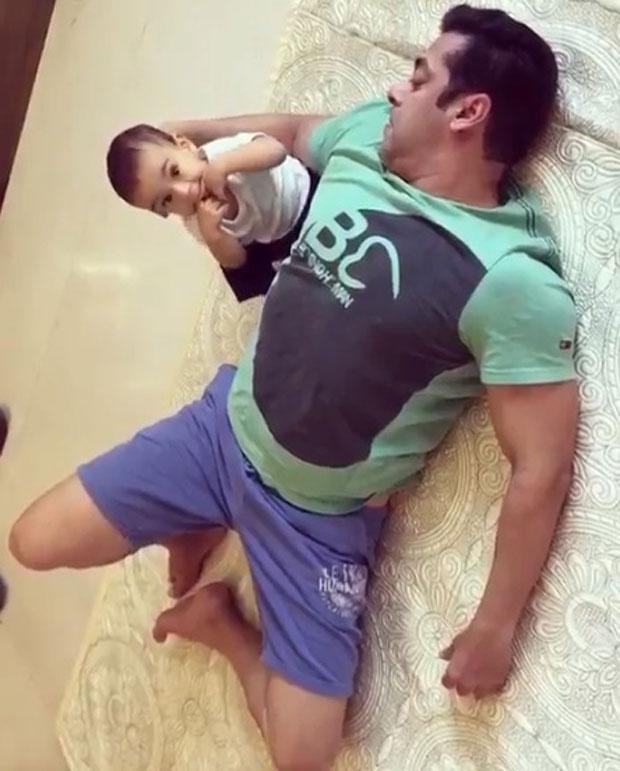 Salman Khan seen rolling on the floor with nephew Ahil