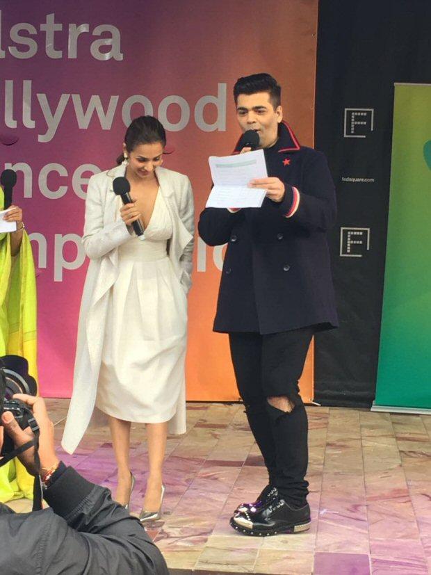 WOW! Dashing Karan Johar, glamorous Malaika Arora spotted giving out prizes at a Melbourne dance competition