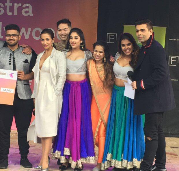 WOW! Dashing Karan Johar, glamorous Malaika Arora spotted giving out prizes at a Melbourne dance competition2