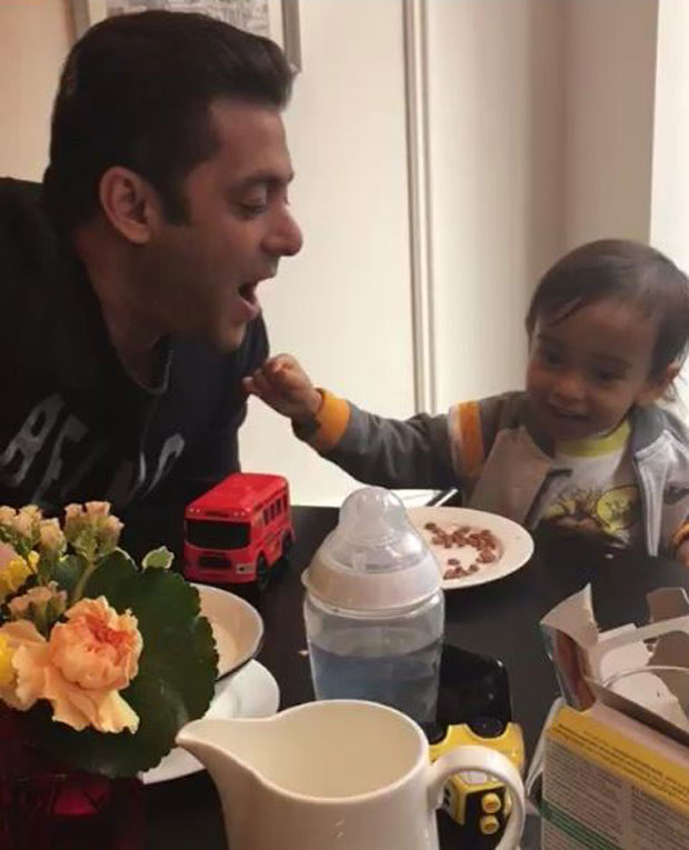 Salman Khan doing this mischief with Ahil is the most adorable thing you will see on the internet today