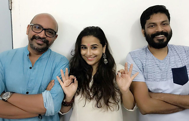 Vidya Balan poses with her 'Mallu' boys on the occasion of Onam