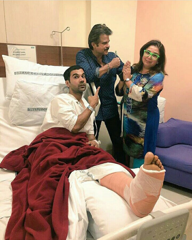 Check out Anil Kapoor visits an injured Rajkummar Rao after Lip Sing Battle accident