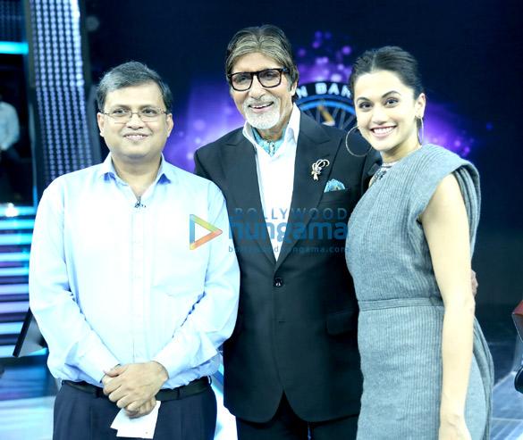 Check out Taapsee Pannu reunites with Pink co-star Amitabh Bachchan on the sets of Kaun Banega Crorepati 9 (3)