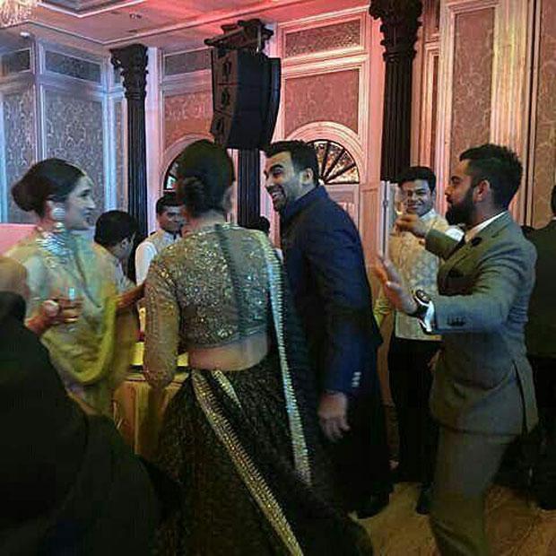 Anushka Sharma - Virat Kohli dance their hearts out at Zaheer Khan - Sagarika Ghatge's wedding reception-3