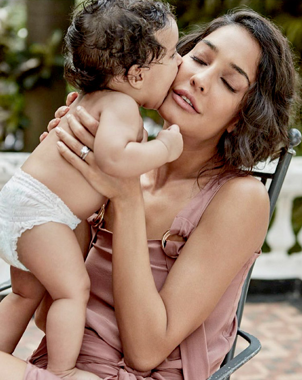 Check out Gorgeous Lisa Haydon and son Zmommy-son pair on Harper's Bazaar