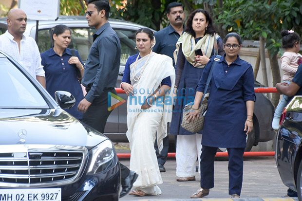 Chopra, Rani Mukerji and their daughter Adira attend late Ram Mukerji's prayer meet