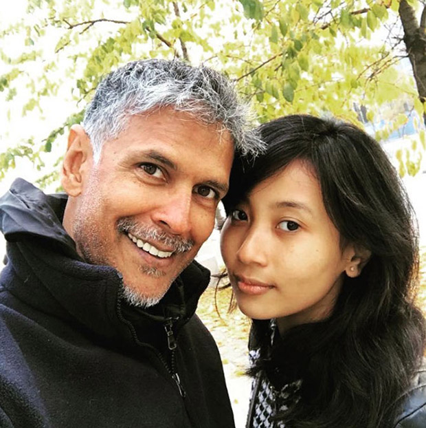 Milind Soman trolled on Twitter for dating a much younger girl