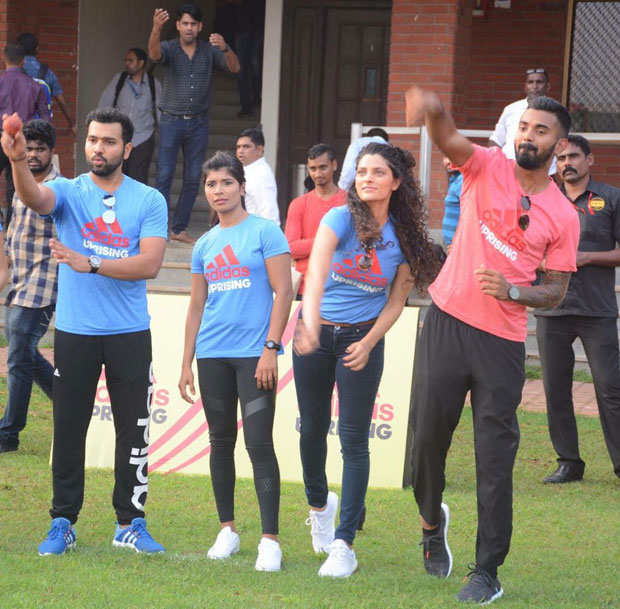 Saiyami Kher flags off Adidas Uprising 3.0 race with cricketers KL Rahul and Rohit Sharma! 01