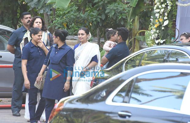 Spotted Aditya Chopra, Rani Mukerji and their daughter Adira attend late Ram