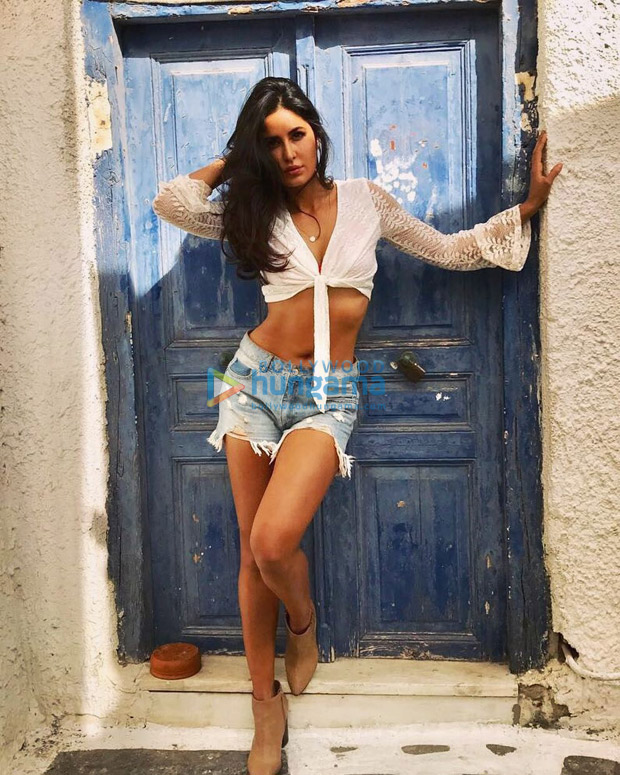 WOW! Katrina Kaif looks super hot in a white top and denim hot pants