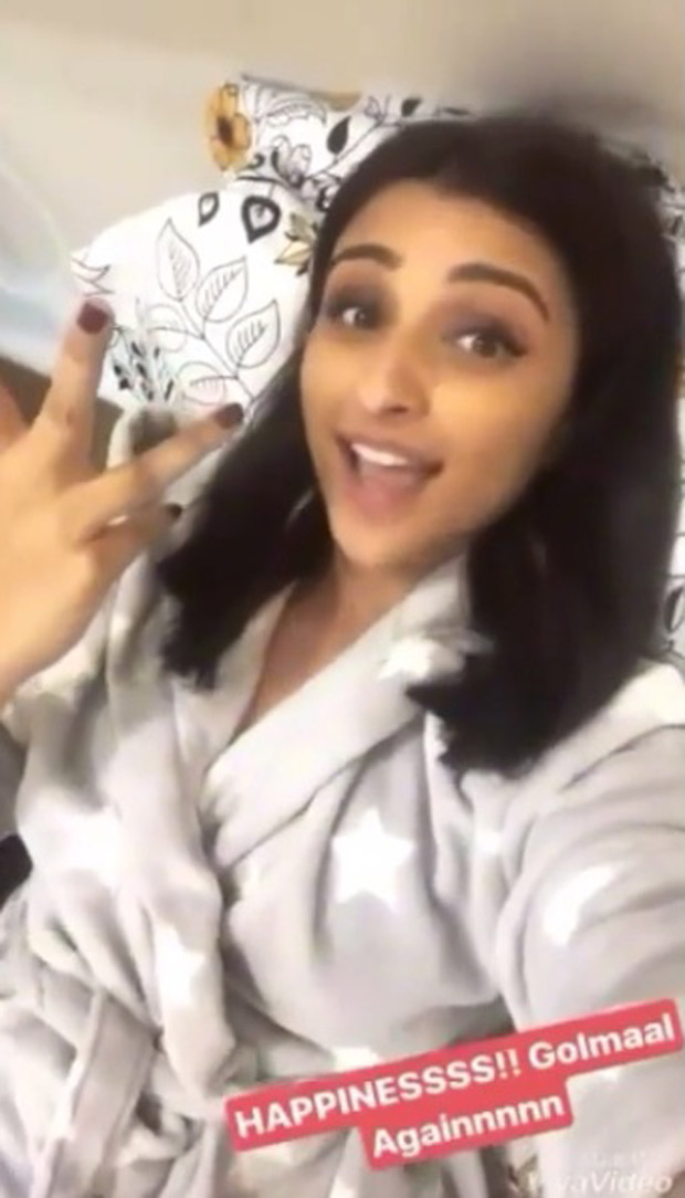 WOW! Parineeti Chopra posts this lovely video to celebrate Golmaal Again's entry in the 200-crore-club