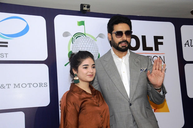 Abhishek Bachchan and Zaira Wasim attend the The Golf Foundation Pro-Am Championship 2017-1