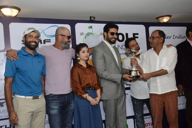 Abhishek Bachchan and Zaira Wasim attend the The Golf Foundation Pro-Am Championship 2017-2
