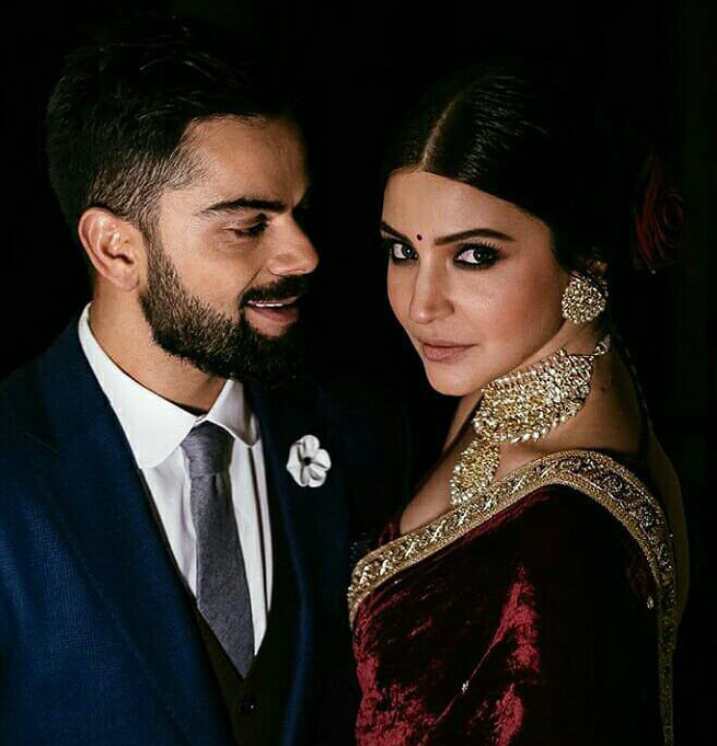 Anushka Sharma after their engagement ceremony