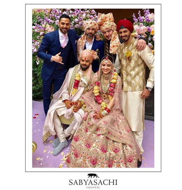 Anushka Sharma sets hearts aflutter as the exquisite Sabyasachi modern traditionalist bride! View Pics (5)
