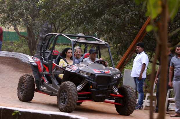Check out Post birthday celebrations, Salman Khan enjoys ATV car ride with friends (3)