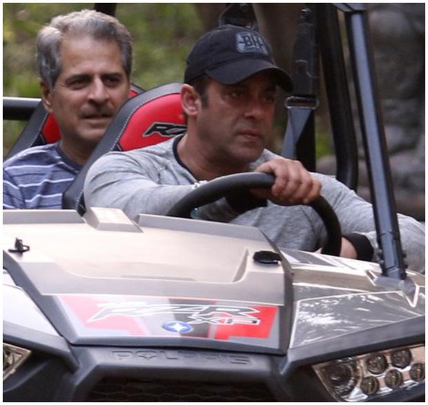 Check out Post birthday celebrations, Salman Khan enjoys ATV car ride with friends