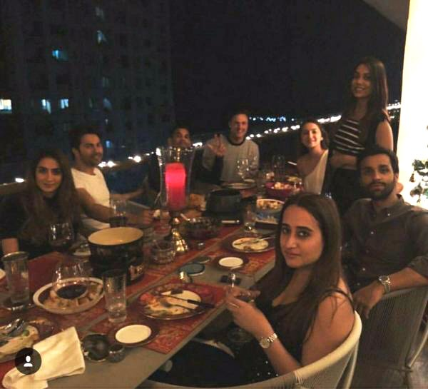 Check out Varun Dhawan dines with rumored girlfriend Natasha Dalal and friends