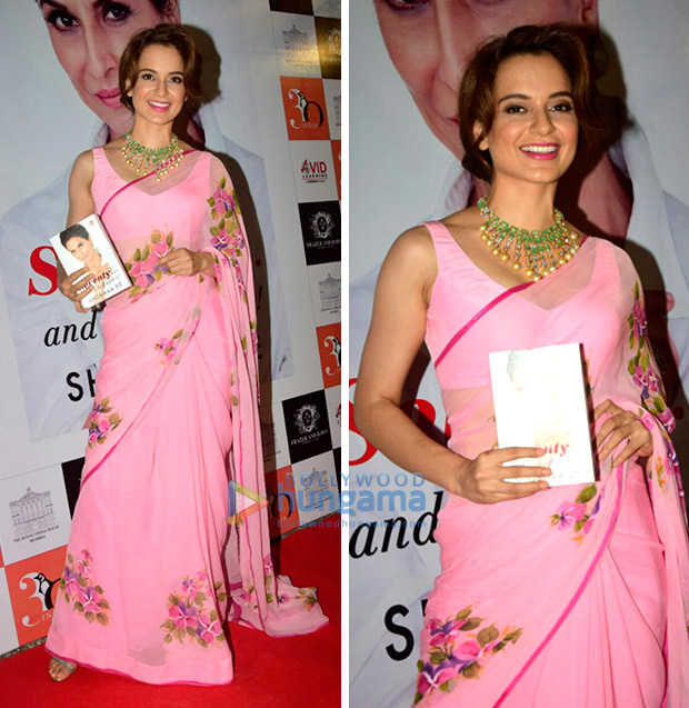 Daily Style Pill Kangana Ranaut has a flirty affair with a hot pink chiffon saree and here's why we love it! (6)