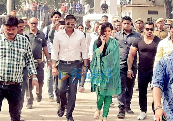 FIRST LOOK A lean Ajay Devgn and demure Ileana D'Cruz shoot for Raid