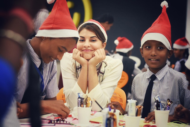 Here's how Jacqueline Fernandez celebrates Christmas with these underprivileged kids