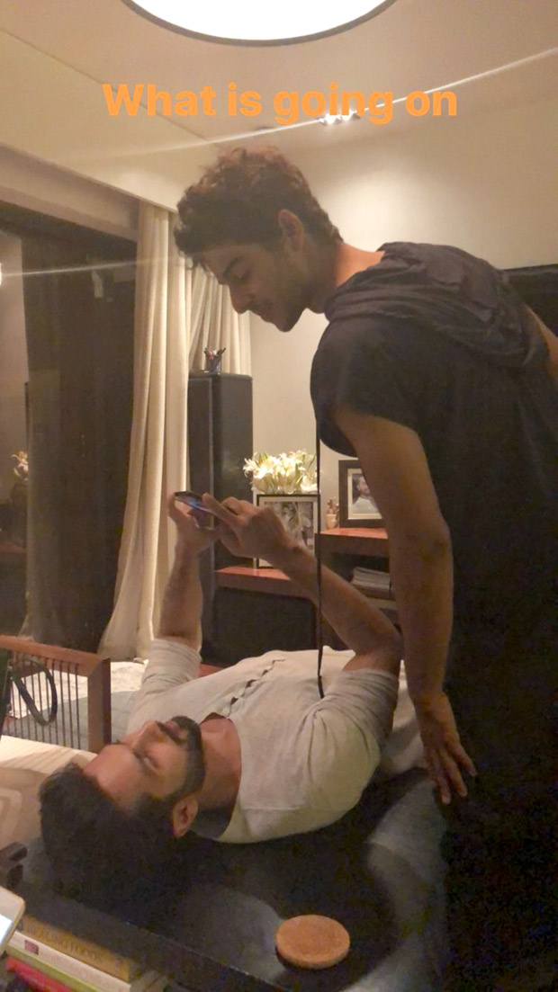 It's a family night for Shahid Kapoor, Mira Rajput and Ishaan Khatter (4)